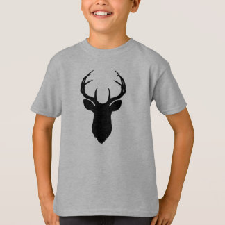 Deer Head Antlers Rustic Country Modern T-Shirt