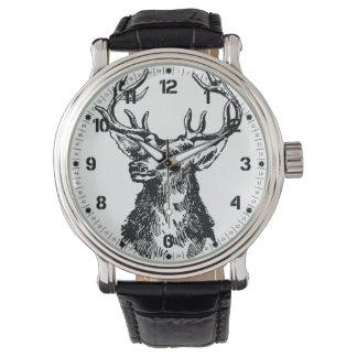 Deer Head Drawing Watch