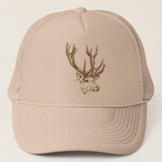 Deer Head Graphic Trucker Hat