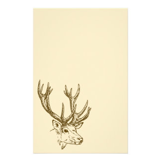 Deer Head Illustration Graphic Customized Stationery