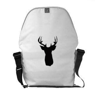 deer head image on bag courier bag