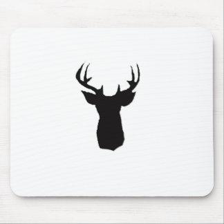 deer head image on mouse pad