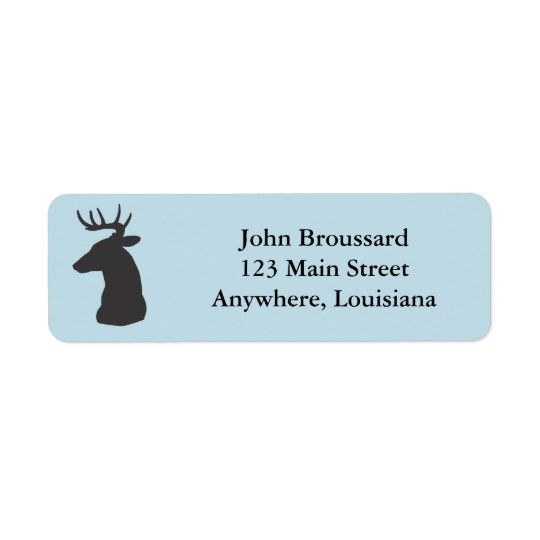 Deer Head Return Address Labels