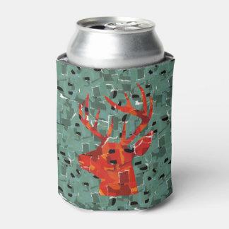 Deer head silhouette mosaic can cooler