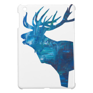 deer head stag in blue case for the iPad mini