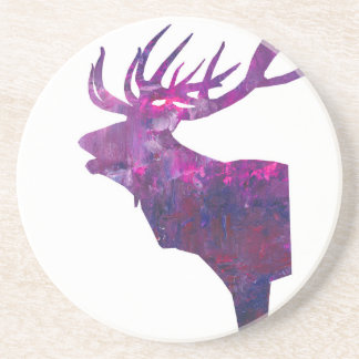 Deer head stag in lilac coaster