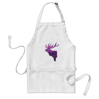 Deer head stag in lilac standard apron