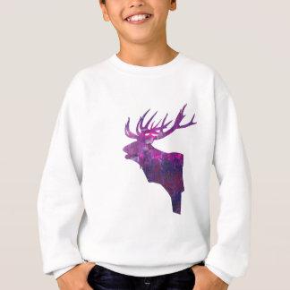 Deer head stag in lilac sweatshirt