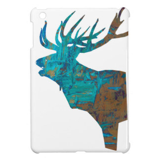 deer head stag in turqouis and brown iPad mini cases