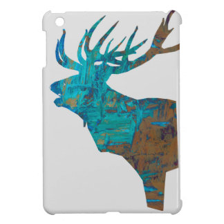 deer head stag in turquois iPad mini case