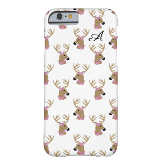 Deer Head with monogram Barely There iPhone 6 Case