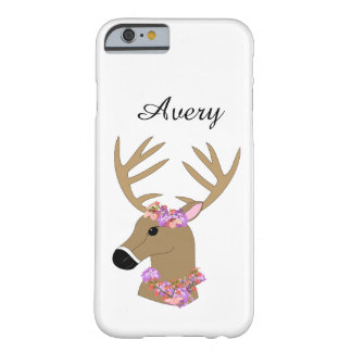Deer Head with name Barely There iPhone 6 Case