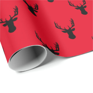 Deer Heads Your Background Color Wrapping Paper