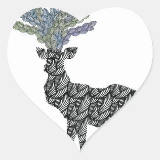 deer heart sticker