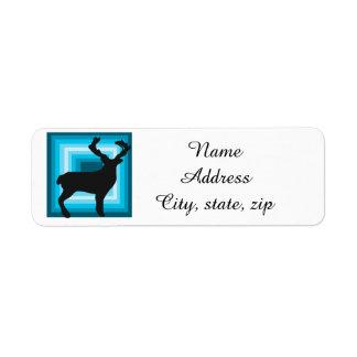 Deer holiday Christmas return address labels