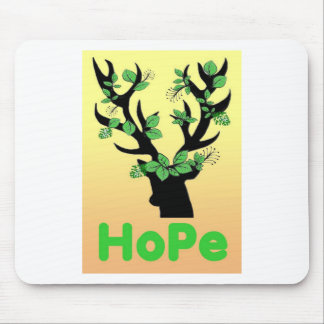Deer horn Hope quotes Mouse Pad