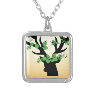 Deer horn Hope quotes Silver Plated Necklace