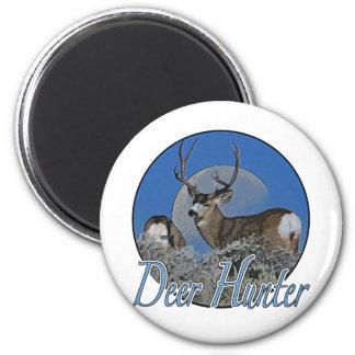 Deer Hunter 6 Cm Round Magnet