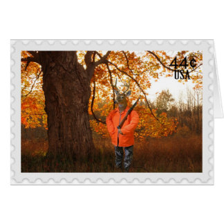 Deer Hunter for birthday Greeting Cards