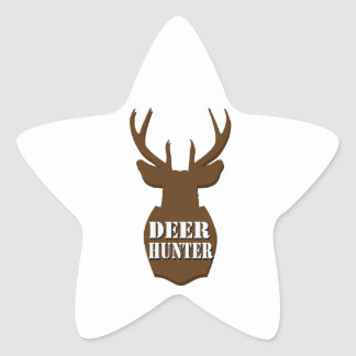 Deer Hunter Star Sticker