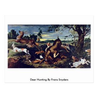 Deer Hunting By Frans Snyders Postcard
