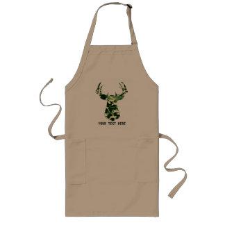 Deer Hunting Camo Buck Long Apron