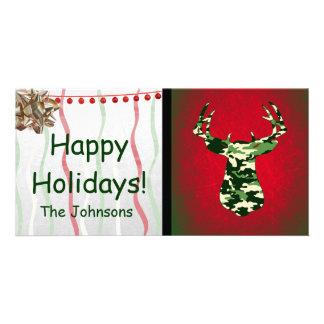 Deer Hunting Camo Buck Photo Greeting Card
