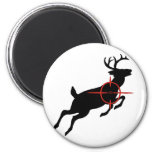 Deer Hunting- Deer with crosshairs on it 6 Cm Round Magnet