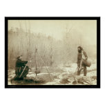 Deer Hunting in Deadwood South Dakota 1887 Poster