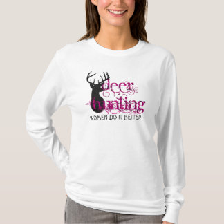 Deer Hunting Ladies T-Shirt