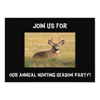 Deer Hunting Season Party Invitation. 13 Cm X 18 Cm Invitation Card