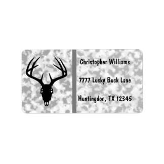 Deer Hunting Skull w/ Antlers Address Label