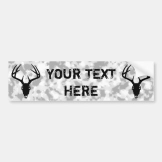 Deer Hunting Skull w/ Antlers Bumper Sticker