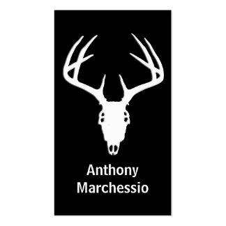 Deer Hunting Skull w/ Antlers Business Card Template