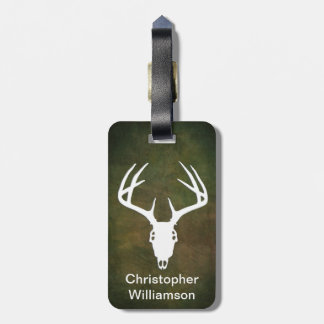Deer Hunting Skull w/ antlers Luggage Tag