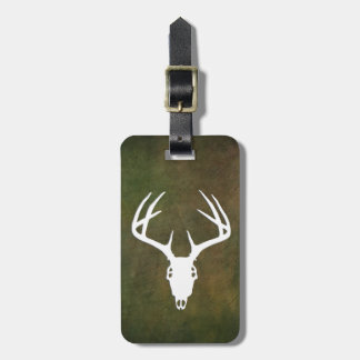 Deer Hunting Skull w/ antlers Tags For Luggage