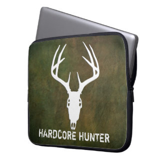 Deer hunting skull with antlers laptop sleeve