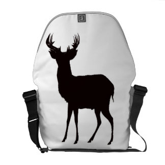 deer image on bag courier bags