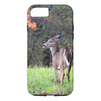 Deer in a Field -Autumn day iPhone 8/7 Case