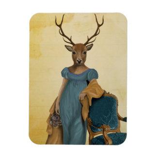 Deer In Blue Dress 2 Rectangular Photo Magnet