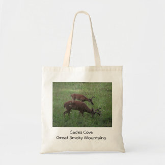 Deer in Cades Cove: Smoky Mountains tote bag