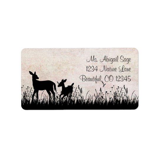 Deer in Meadow Address Label