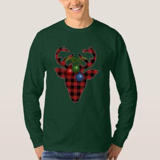 Deer in Plaid Christmas T-Shirt