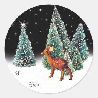 Deer in Starry Woods Gift Tags