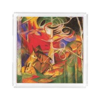 Deer in the Forest by Franz Marc Acrylic Tray