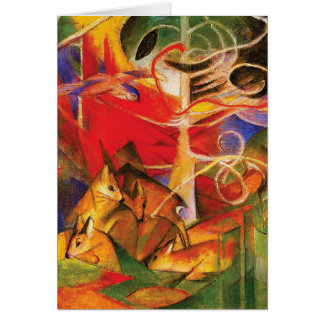 Deer in the Forest by Franz Marc Card