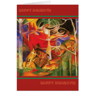 Deer in the Forest by Franz Marc (Happy Holidays) Card