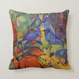 Deer in the Forest II by Franz Marc, Vintage Art Cushion