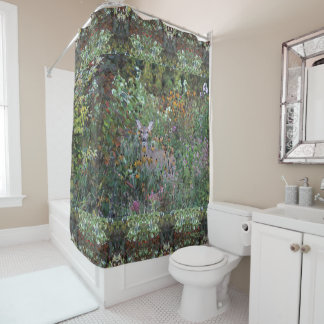 Deer in the Gardens First Freeze Early Fall Shower Curtain