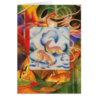 Deer in the Snow by Franz Marc Card